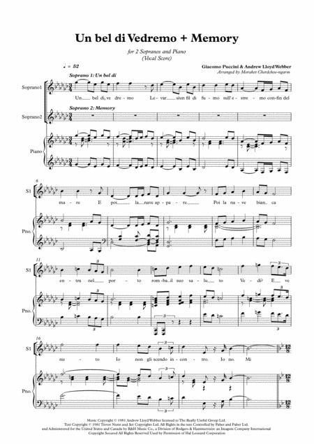 Memory & Un Bel Di Vedremo (for Duet Soprano)