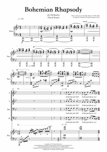 Bohemian Rhapsody Vocal Score