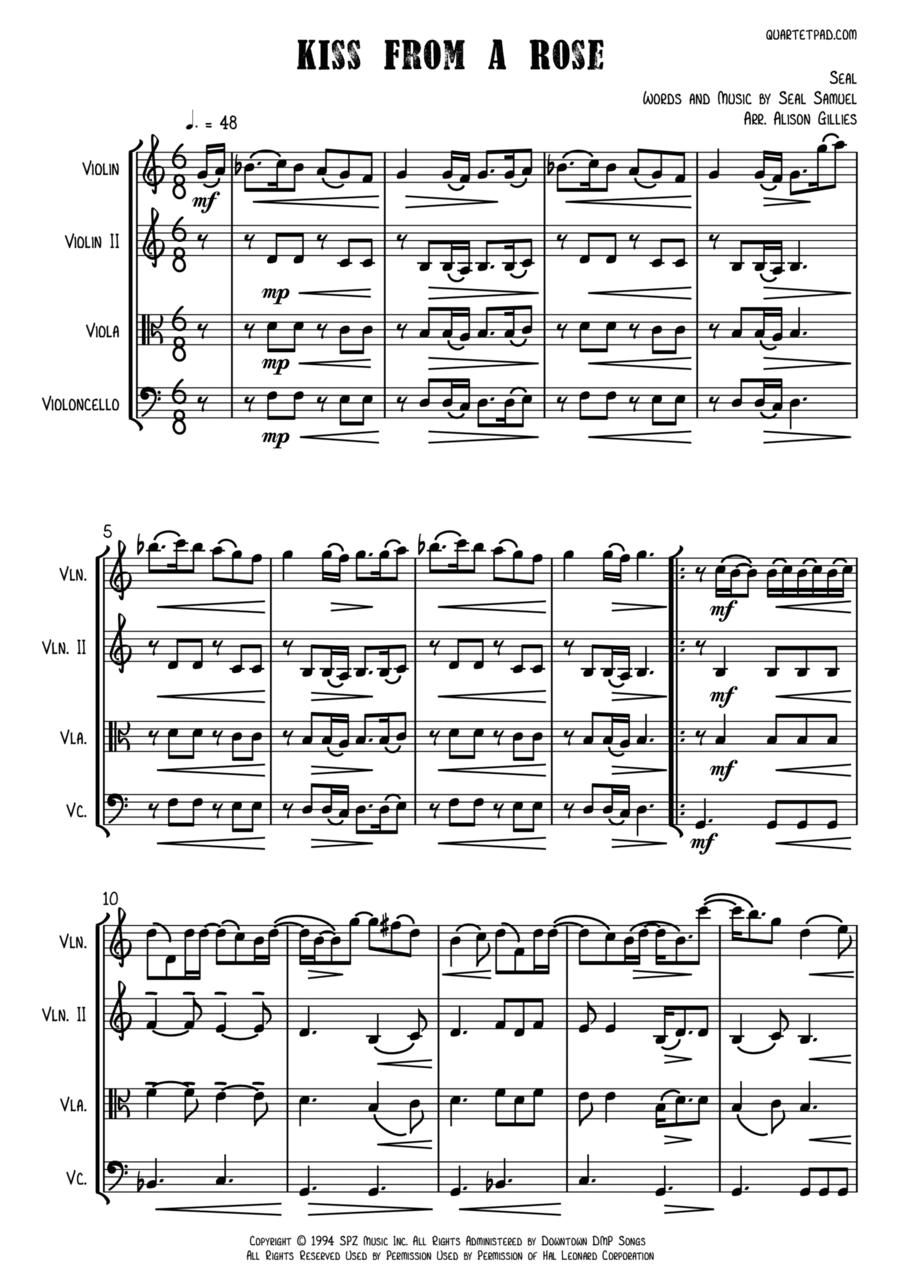 Kiss From A Rose - String Trio (vln/vla/vc)