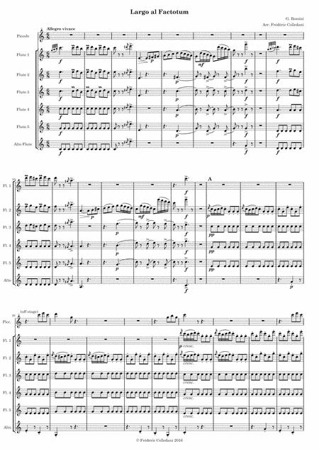 Rossini - Barber of Seville - Il barbiere di Siviglia - Largo al Factotum, air of Figaro, for Flute Choir