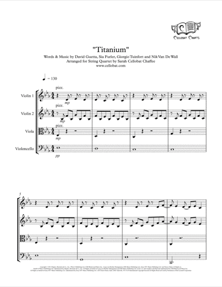 Titanium - David Guetta ft. Sia - Epic String Quartet Remix arr. Cellobat