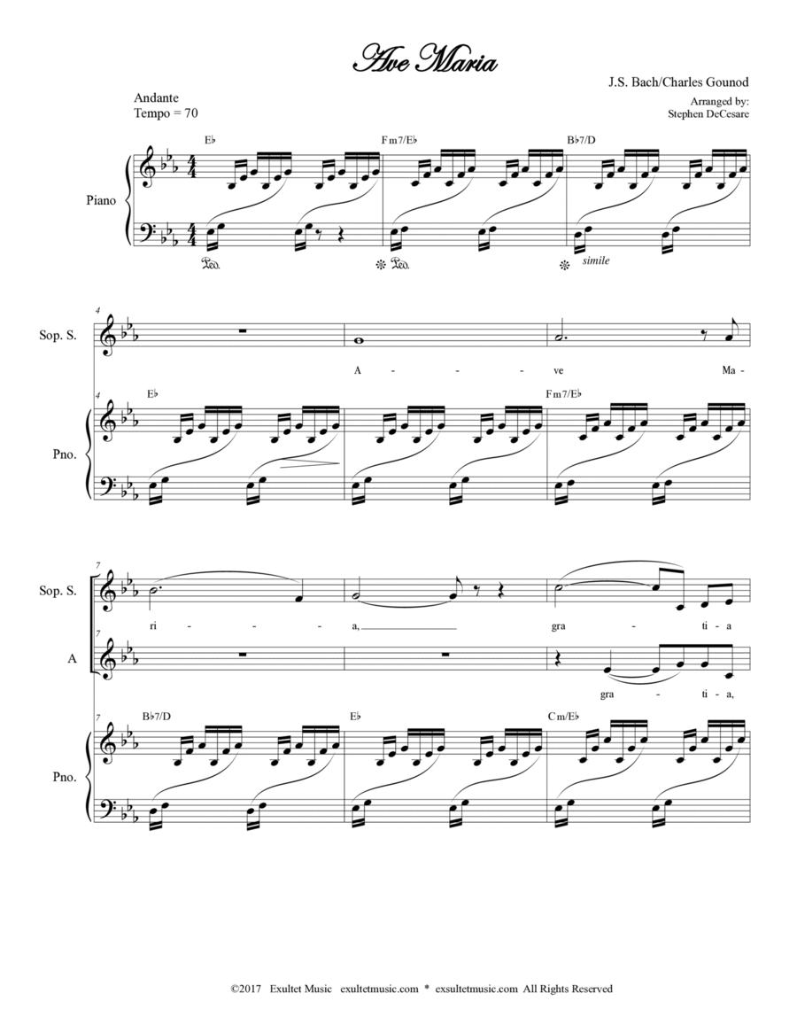 Ave Maria (Duet for Soprano and Alto Solo - Medium/Low Key)