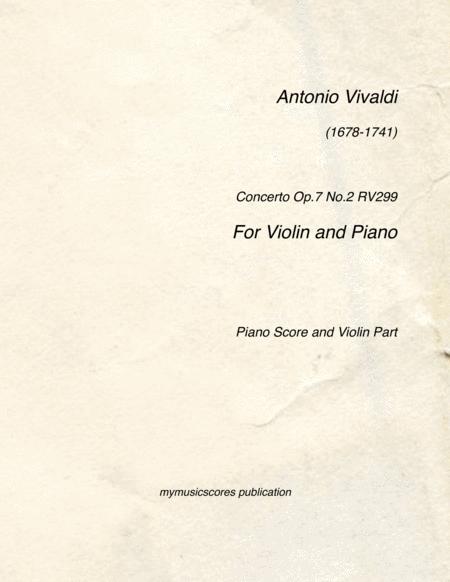Violin Concerto Op.7 No.2 RV299 in G major