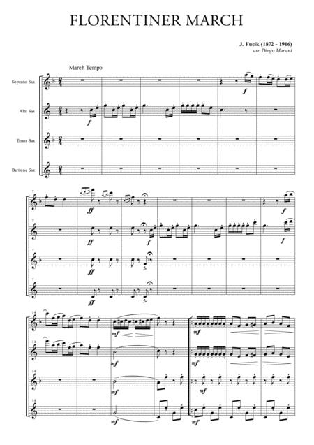 Florentiner March for Saxophone Quartet
