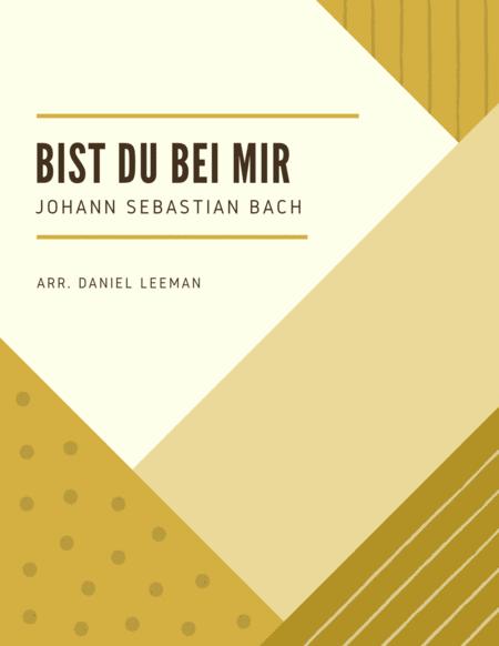 Bist Du Bei Mir for Alto Saxophone & Piano