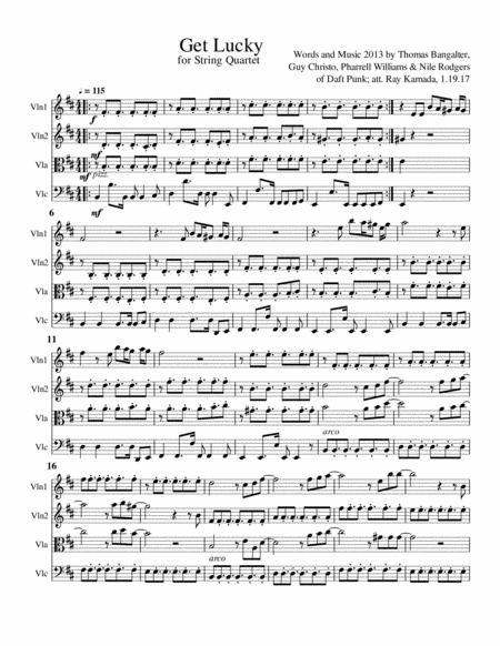 Get Lucky, for String Quartet
