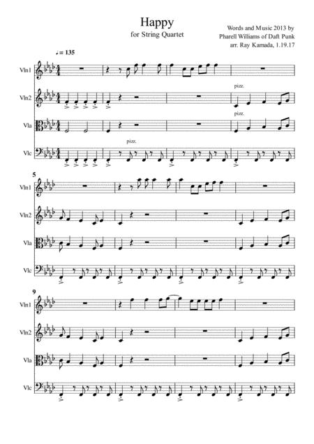 Happy, for String Quartet