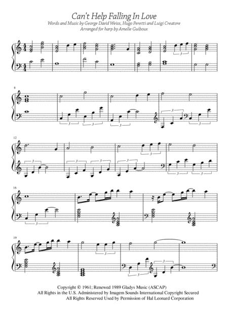 Can't Help Falling In Love - Solo Harp Arrangement