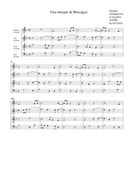 Una musque de Buscagya (arrangement for 4 recorders)