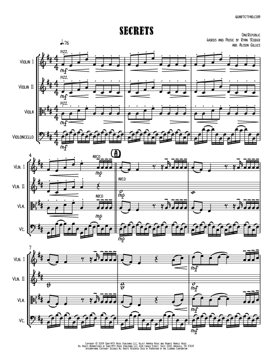 Secrets - String Quartet