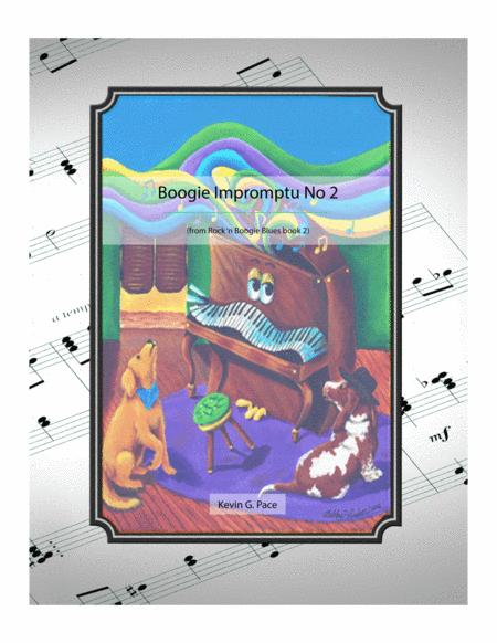 Boogie Impromptu No. 2 - original piano solo, duet or trio