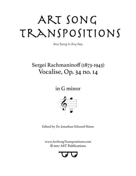 Vocalise, Op. 34 no. 14 (G minor)