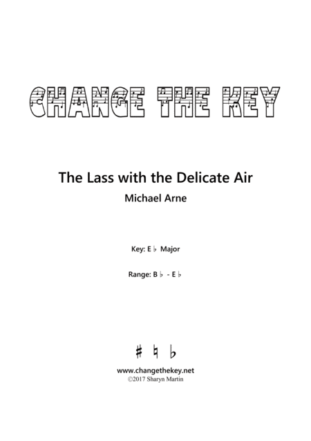 The Lass with the Delicate Air - Eb Major