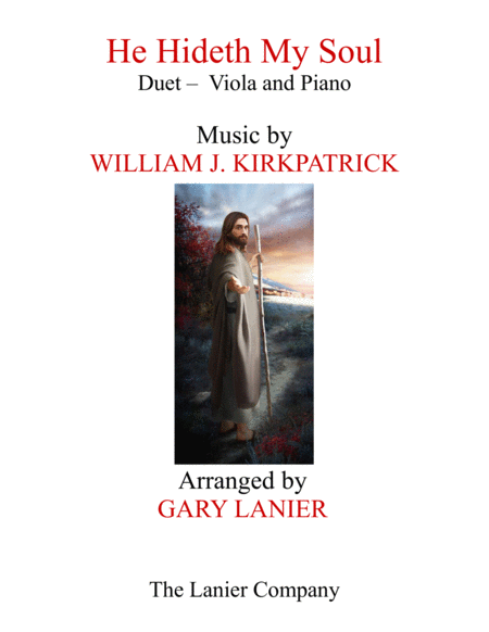 HE HIDETH MY SOUL (Duet - Viola & Piano with Score/Part)