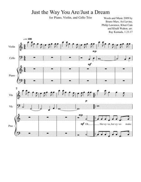 Just The Way You Are, for Piano, Violin, Cello Trio