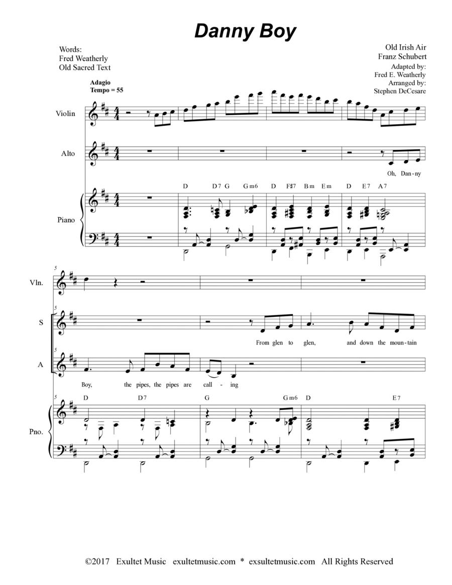 Danny Boy (Funeral Version) (Duet for Soprano and Alto Solo)