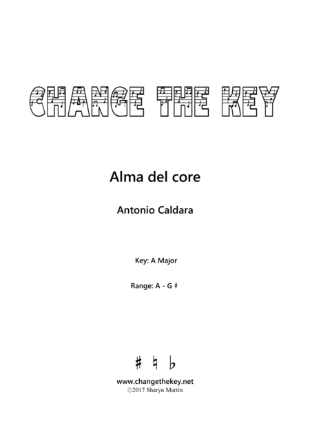 Alma del core - A Major
