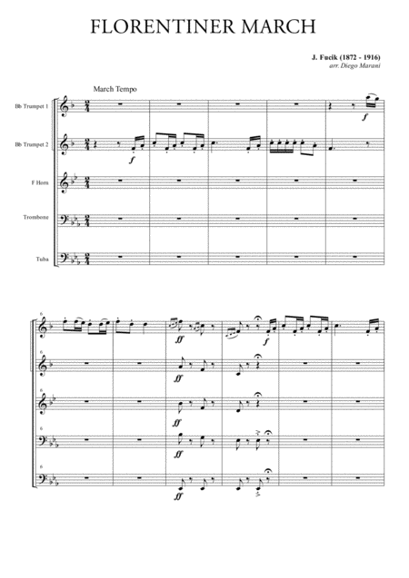 Florentiner March for Brass Quintet