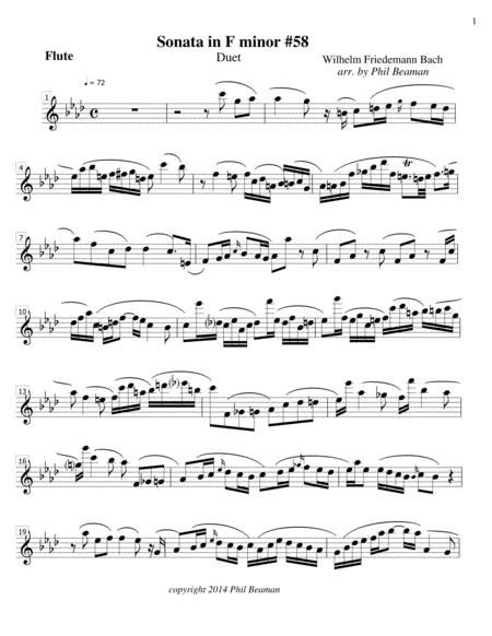 Sonata in F minor - flute and oboe duet