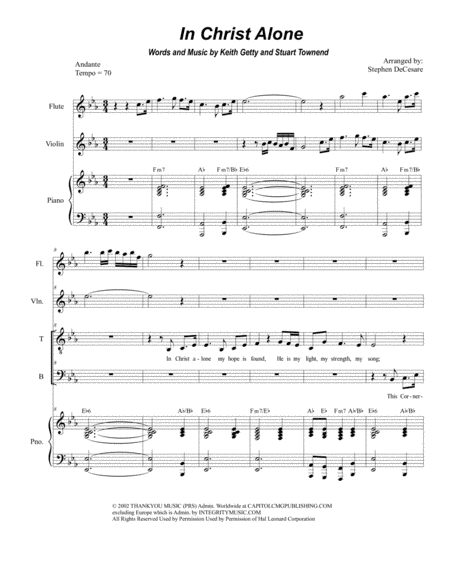 In Christ Alone (Duet for Tenor and Bass)