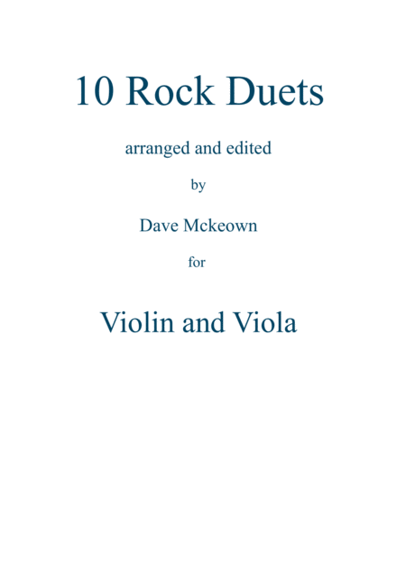 10 Rock Duets for Violin and Viola