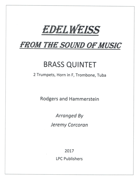 Edelweiss for Brass Quintet