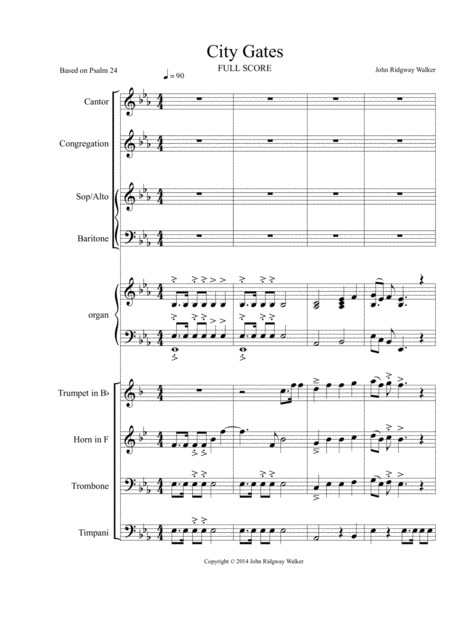 City Gates (Full Score)