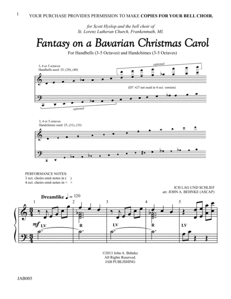 Fantasy on a Bavarian Christmas Carol