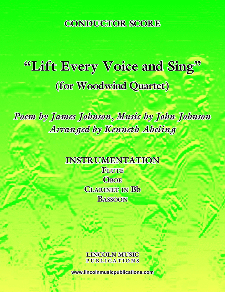 Lift Every Voice and Sing (for Woodwind Quartet)