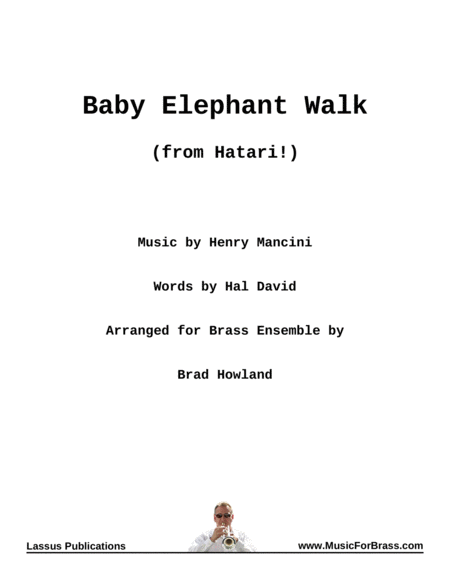 Baby Elephant Walk for Brass Ensemble