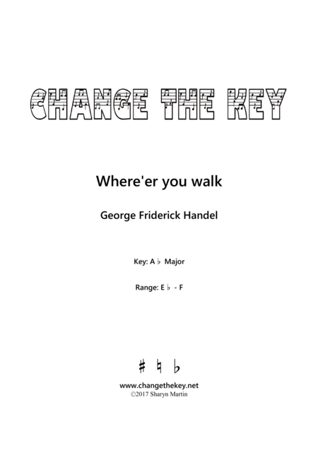 Where'er you walk - Ab Major
