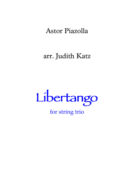 Libertango - for string trio