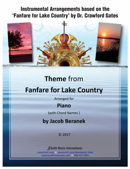 Theme from Fanfare for Lake Country - Solo Piano (with chord names)
