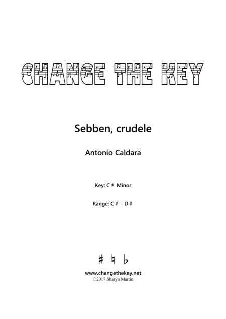 Sebben, crudele - C# Minor