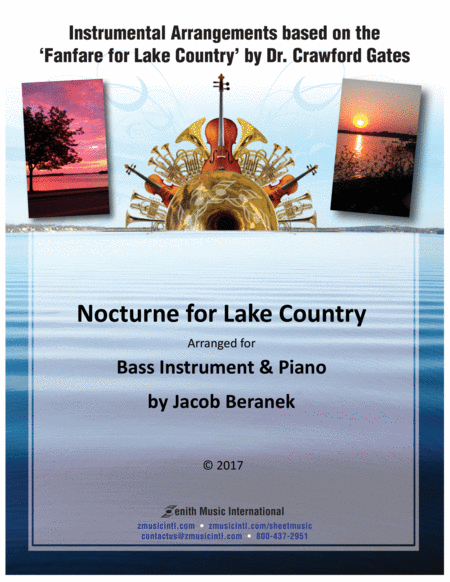 Nocturne for Lake Country - Bass Instrument and Piano