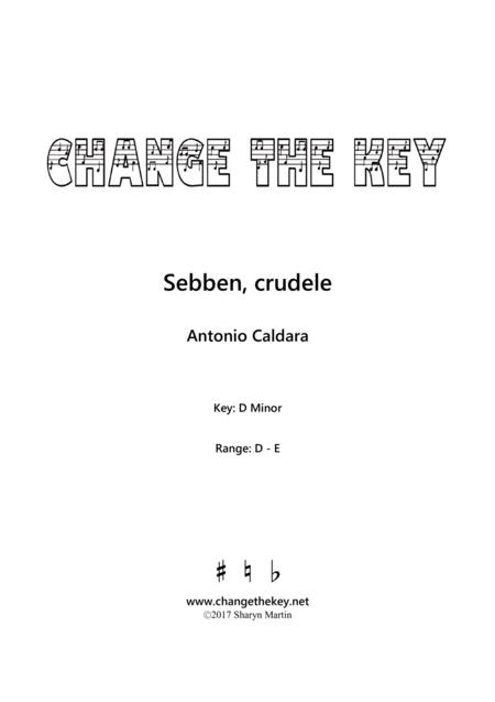 Sebben, crudele - D Minor