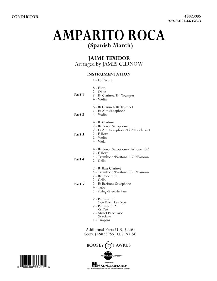 Amparito Roca (Spanish March) - Conductor Score (Full Score)