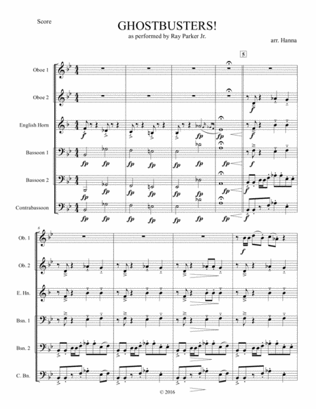 Ghostbusters (Double Reed Ensemble)