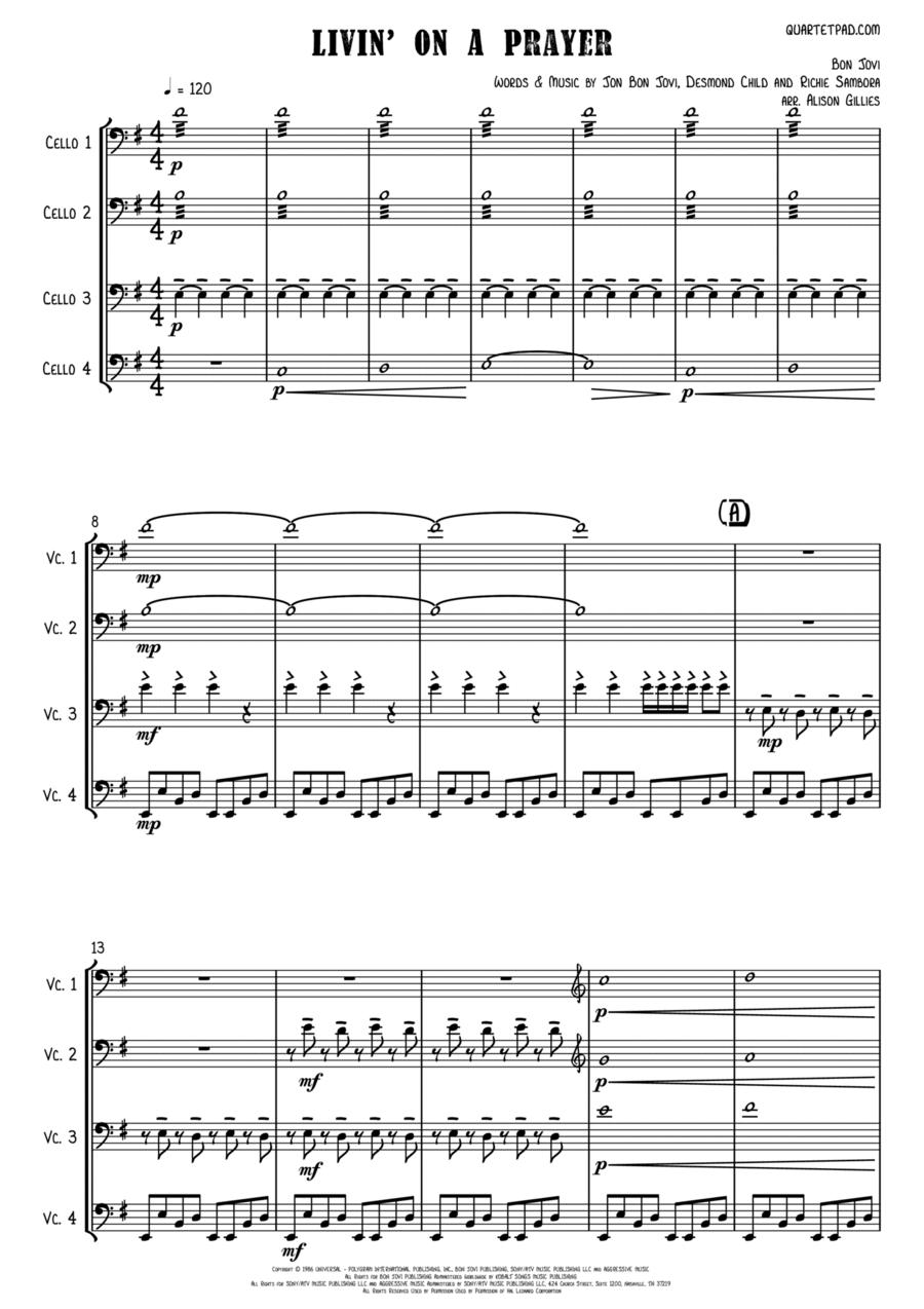 Livin' On A Prayer - Cello Quartet