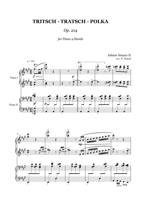 J. Strauss II - Tritsch-Tratsch-Polka Op.214 - piano 4 hands