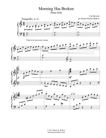 Morning Has Broken Advanced Piano Solo