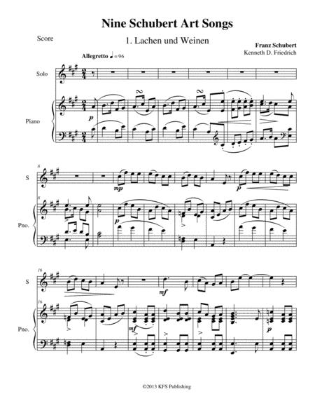 Nine Schubert Art Songs