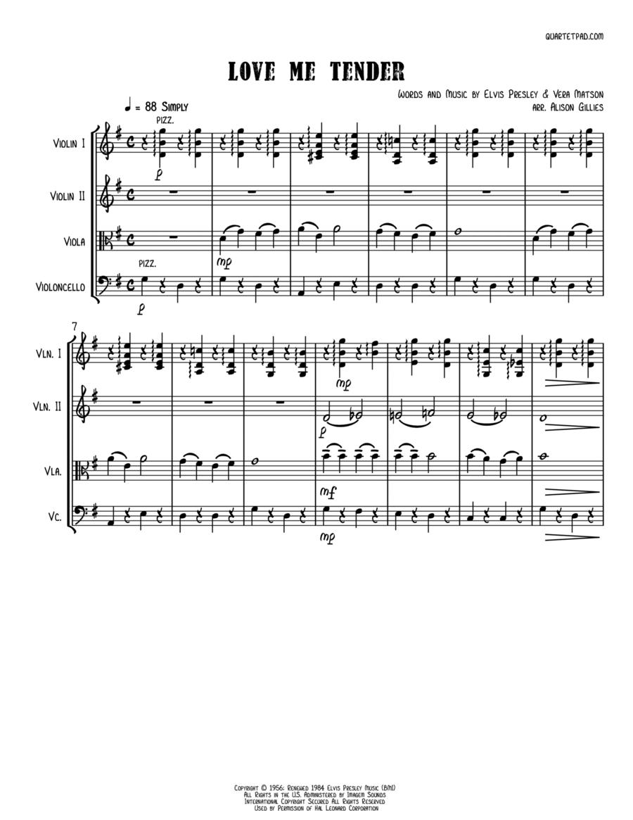 Love Me Tender - String Quartet