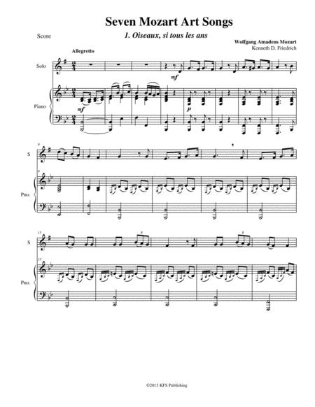 Seven Mozart Art Songs