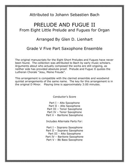 Prelude and Fugue II (Saxophone)