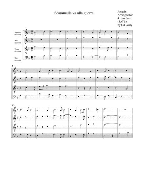 Scaramella va alla guerra (arrangement for 4 recorders)
