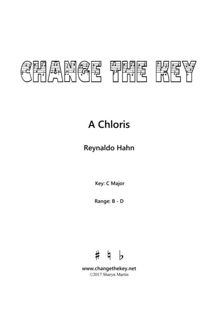 A Chloris - C Major