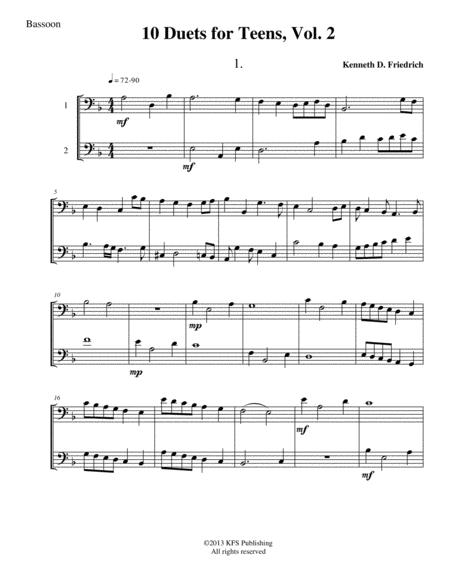 10 Bassoon Duets for Teens, Vol. 2