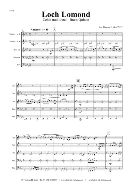 Loch Lomond - Celtic Traditional - Brass Quintet