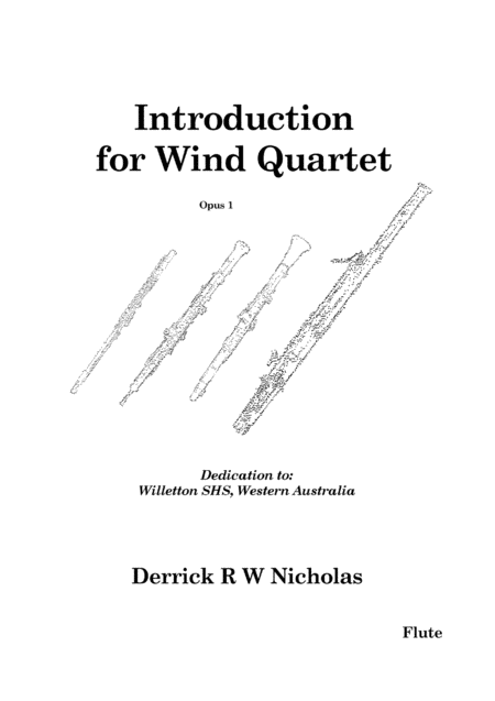 Introduction for Wind Quartet (Flute)